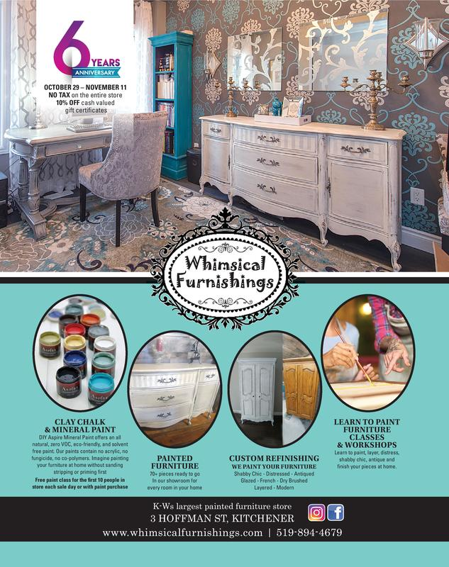 Furniture Stores Kitchener | Whimsical Furnishings Clay Chalk Mineral Paint Supplies Painted